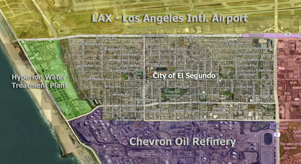 El Segundo CA area Map